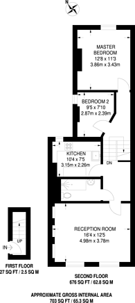 Large floorplan for Portnall Road, Maida Vale, W9