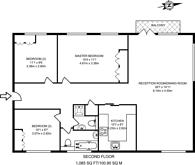 Large floorplan for Avenue Road, St John's Wood, NW8