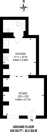 Large floorplan for Church Road, Mitcham, CR4