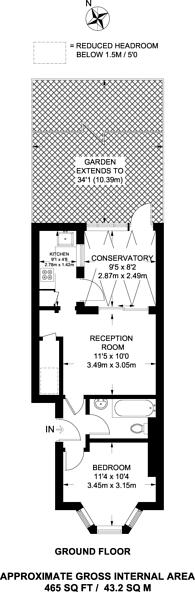 Large floorplan for Northbrook Road, Ilford, IG1