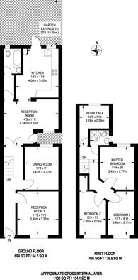 Large floorplan for Henniker Road, Stratford, E15
