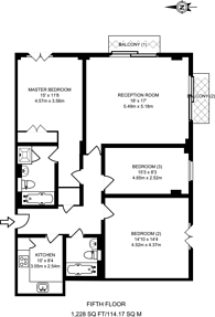 Large floorplan for Victoria Street, Westminster, SW1H