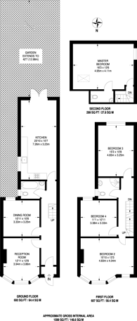 Large floorplan for Grove Green Road, Leytonstone, E11