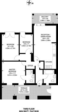 Large floorplan for Booth Road, Royal Docks, E16