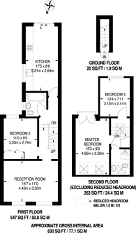 Large floorplan for Standen Road, Southfields, SW18