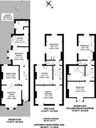 Large floorplan for Adys Road, Peckham Rye, SE15