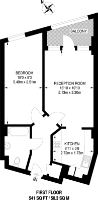 Large floorplan for High Road, Willesden, NW10