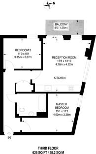 Large floorplan for Elmira Street, Lewisham, SE13