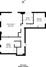 Large floorplan for Newton Street, Bloomsbury, WC2B