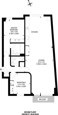 Large floorplan for Islington Green, Islington, N1