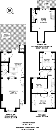 Large floorplan for Crewys Road, Child's Hill, NW2