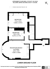 Large floorplan for Palace Court, Notting Hill, W2