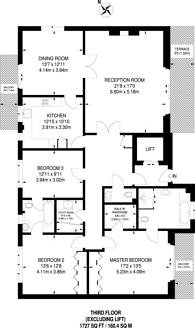 Large floorplan for Thornbury Square, Highgate, N6