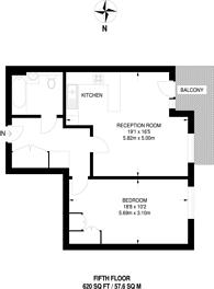 Large floorplan for Juniper Drive, Battersea, SW18