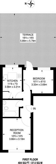 Large floorplan for Goodmayes Road, Goodmayes, IG3
