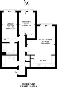 Large floorplan for Printworks Apartments, Borough, SE1