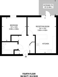 Large floorplan for Wandsworth Bridge Road, Sands End, SW6