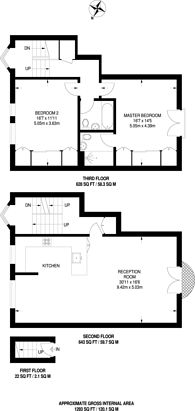 Large floorplan for Westbourne Grove, Artesian Village, W2
