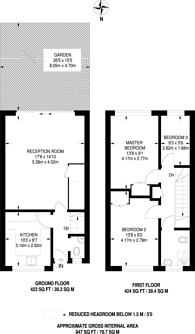 Large floorplan for Hennel Close, Forest Hill, SE23