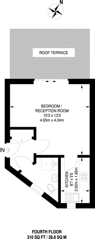Large floorplan for Red Lion Street, Richmond, TW9