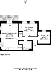 Large floorplan for Coppetts Road, Muswell Hill, N10