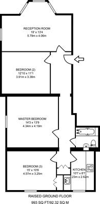 Large floorplan for Windsor Road, Ealing Broadway, W5