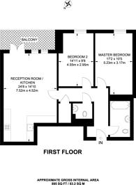 Large floorplan for High Street, Walthamstow, E17