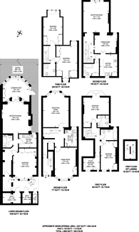 Large floorplan for Elm Park Road, Chelsea, SW3