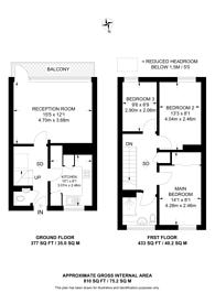 Large floorplan for Mursell Estate, Stockwell, SW8