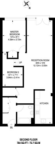 Large floorplan for Wenlock Road, Wenlock Basin, N1