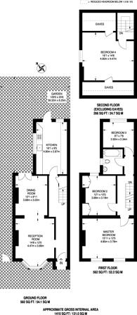 Large floorplan for Stroud Road, South Norwood, SE25