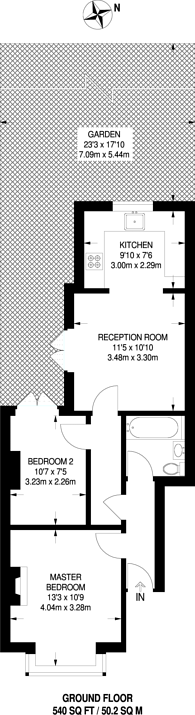 Large floorplan for Washington Road, Worcester Park, KT4