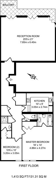 Large floorplan for Ennismore Gardens, Knightsbridge, SW7