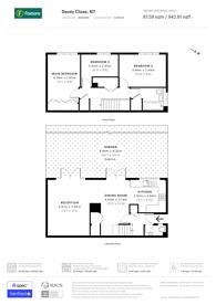 Large floorplan for Davey Close, Islington, N7