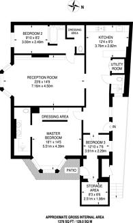 Large floorplan for Strathmore Gardens, Kensington, W8