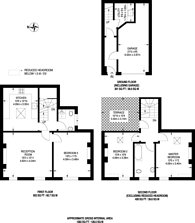Large floorplan for Wigmore Place, Marylebone, W1U
