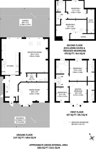Large floorplan for Riverside Close, Kingston, KT1