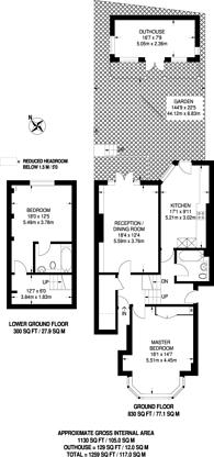 Large floorplan for Talbot Road, Highgate, N6