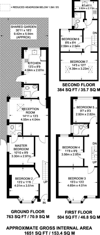 Large floorplan for Henley Road, Ilford, IG1