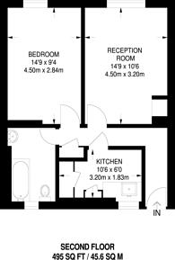Large floorplan for Pentonville Road, Angel, N1