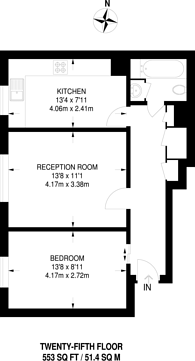 Large floorplan for Hall Street, Angel, EC1V