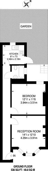 Large floorplan for Gillespie Road, Highbury, N5