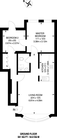 Large floorplan for Headstone Road, Harrow, HA1