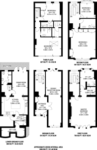 Large floorplan for Catherine Place, Westminster, SW1E