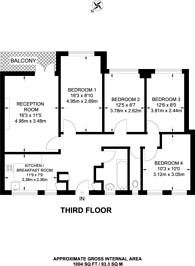 Large floorplan for Joseph Trotter Close, Clerkenwell, EC1R