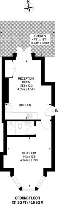 Large floorplan for Brownhill Road, Catford, SE6