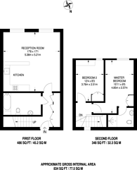 Large floorplan for The Arthaus, Hackney, E8