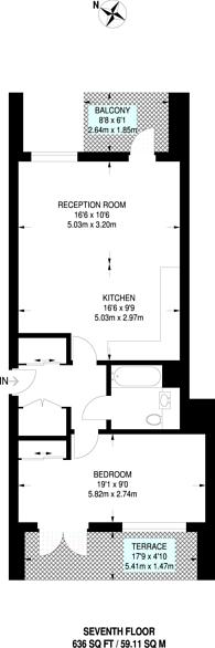 Large floorplan for Smithfield Square, High Street, Harringay, N8
