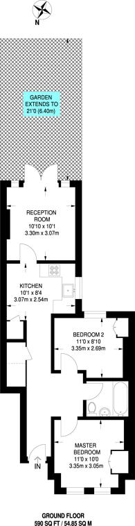 Large floorplan for Longfield Street, Southfields, SW18