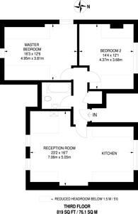 Large floorplan for Walm Lane, Mapesbury Estate, NW2